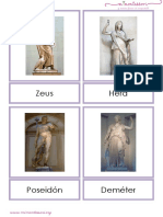 Dioses Griegos Letra Imprenta