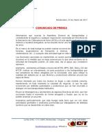 Comunicado de Prensa ITPC 22-03-17
