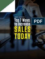 Top 7 Ways to Increase Sales Today