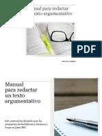 Manual para redactar un texto argumentativo