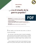 Viva El Triunfo de La Guerra Popular LIN BIAO 1965