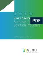 Nine LoRaWAN Surprises for Solution Providers