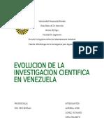 Evoluciion de La Investigacion Cientifica en Venezuela
