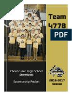 2016-17 sponsorship packet