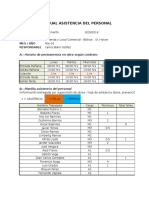 Planilla Mensual Asistencia Del Personal, Marzo 2016 (1)