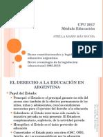 Clase 3 Módulo Educación Cronología Legislación
