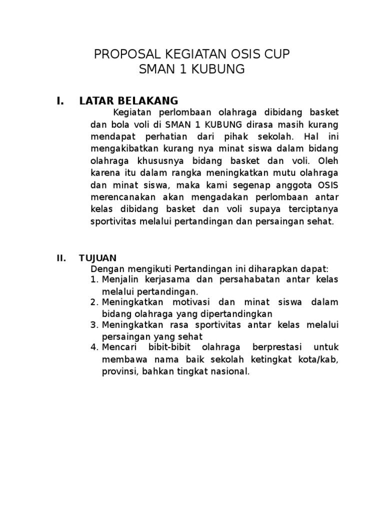 Dokumen Tips Proposal Kegiatan Osis Cup Docx