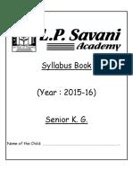 Sr Kg 2015-16