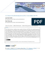 An Analysis of the Relationship Between IFAC Code of Ethics and CPI