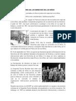 Historia de Los Derechos de Los Niños