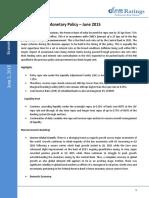Monetary Policy- June '15