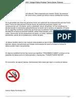 Texto Argumentativo El Tabaco