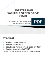 Variable Speed Drive (Vsd) Dan Inverter