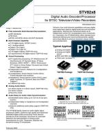 CI Procesador de Audio STV8258DSX