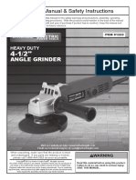 Heavy Duty 4-12 Angle Grinder