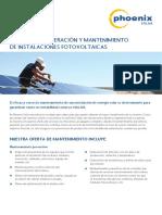 PHOENIX SOLAR Operacion y Mantenimiento