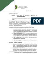 Philippine Guideline for Registration