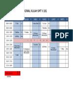 Jadwal Kuliah SMT 2