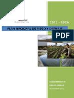 Plan Nacional Riego y Drenaje