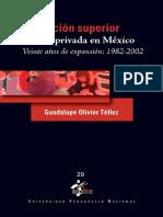 Educación Superior Privada en México - Veinte Años de Expansión