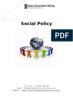 Sample Document on Social Policy