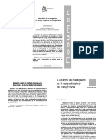 La Práctica de Investigación en el Campo Disciplinar de Trabajo Social - Carmen Inés Lera