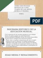 CUATRO DISCIPLINAS ARTÍSTICAS COMO LENGUAJES DE LAS ARTES.pptx