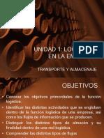 UNIDAD 1 Logística en La Empresa; Transporte y Almacenaje