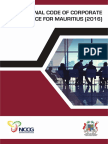 The National Code of Corporate Governance for Mauritius 2016
