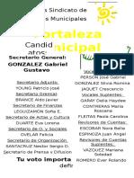 Elecciones Sindicato de Empleados Municipales - Lista Amarilla