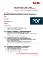 Health and Social Care QCF Level 2 Paper Format