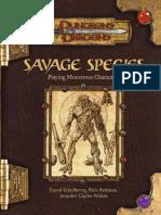 3.5 Savage Species