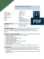 Daftar Riwayat Hidup Hasti Fatma
