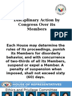 disciplinary action by congress