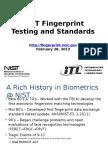NIST Fingerprint Testing Standards