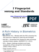 NIST Fingerprint Testing Standards
