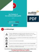 Sondage OpinionWay pour Audible - L'audio dans les pratiques culturelles des Français