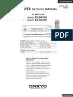 Onkyo TX-SR705 Service Manual
