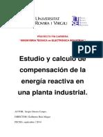 Estudio y Calculo de La Compensacion de Energia Reactiva en Una Planta Industrial
