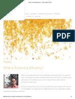 What is Screening Efficiency_ — IBulk Solutions Pty Ltd