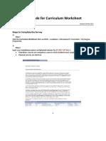 Curriculum Worksheet Guide 20170309