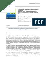 """""""La producción multimedia en bibliotecas públicas colombianas"""" El uso de Creative Commons en las bibliotecas públicas para enriquecer el contenido multimedia libre"""