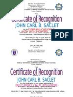 Certificate G7