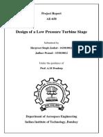 Design of Single Stage Low Pressure Turbine-Report