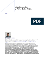 Analog Output Pada Arduino Menggunakan PWM