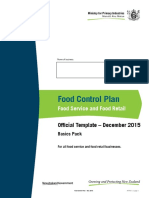 2016 Food Control Plan Basics