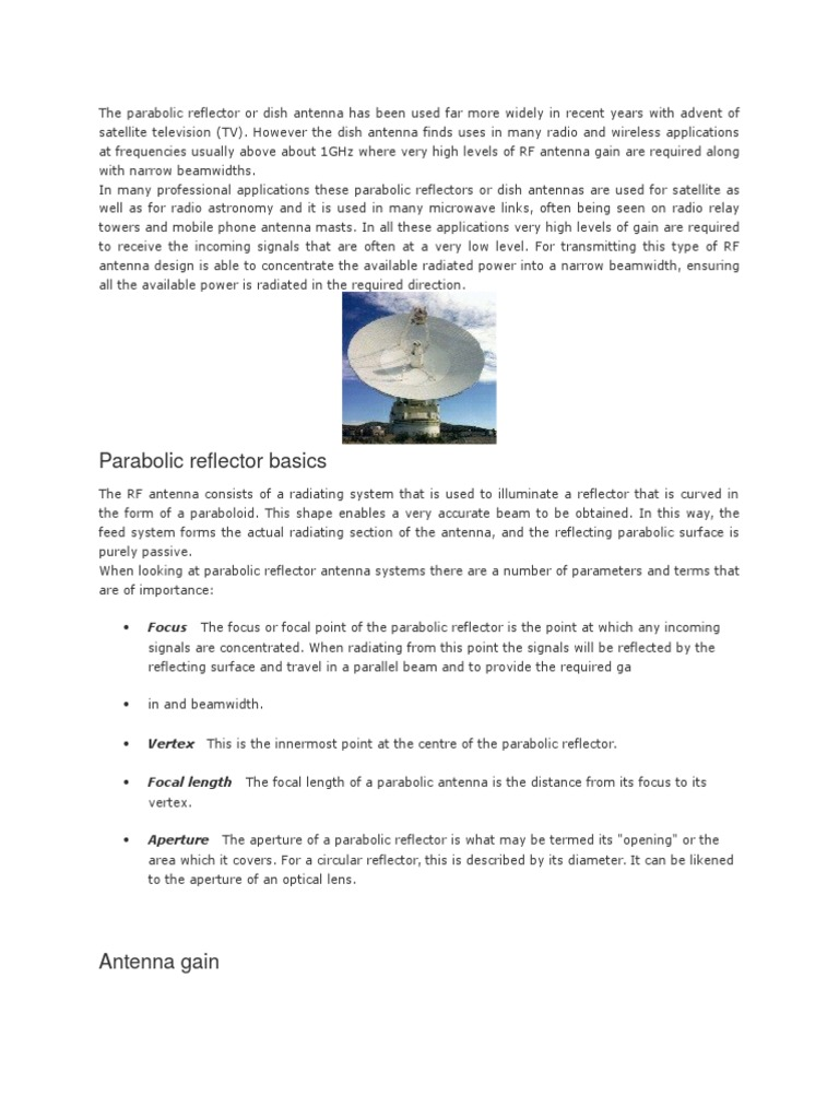 Reflector | Antenna (Radio) | Broadcast Engineering