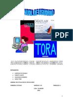 Manual de Usuario Del Algoritmo Del Metodo Simplex