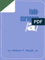 Wyatt - Indo-European /a/ (1970)