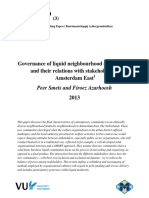 Smets en Azarhoosh Governance of liquid neighbourhood communities and their relations with stakeholders in Amsterdam East, NSWP 3, 2013